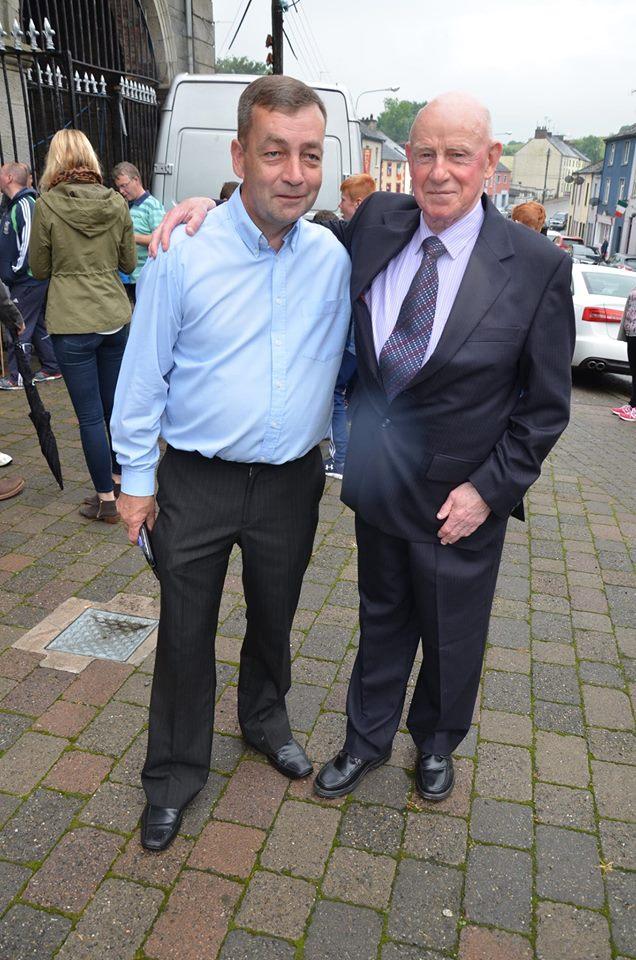 Organiser Rory Mc Atavie and Eamon Gorman who raised the tri colour on the day