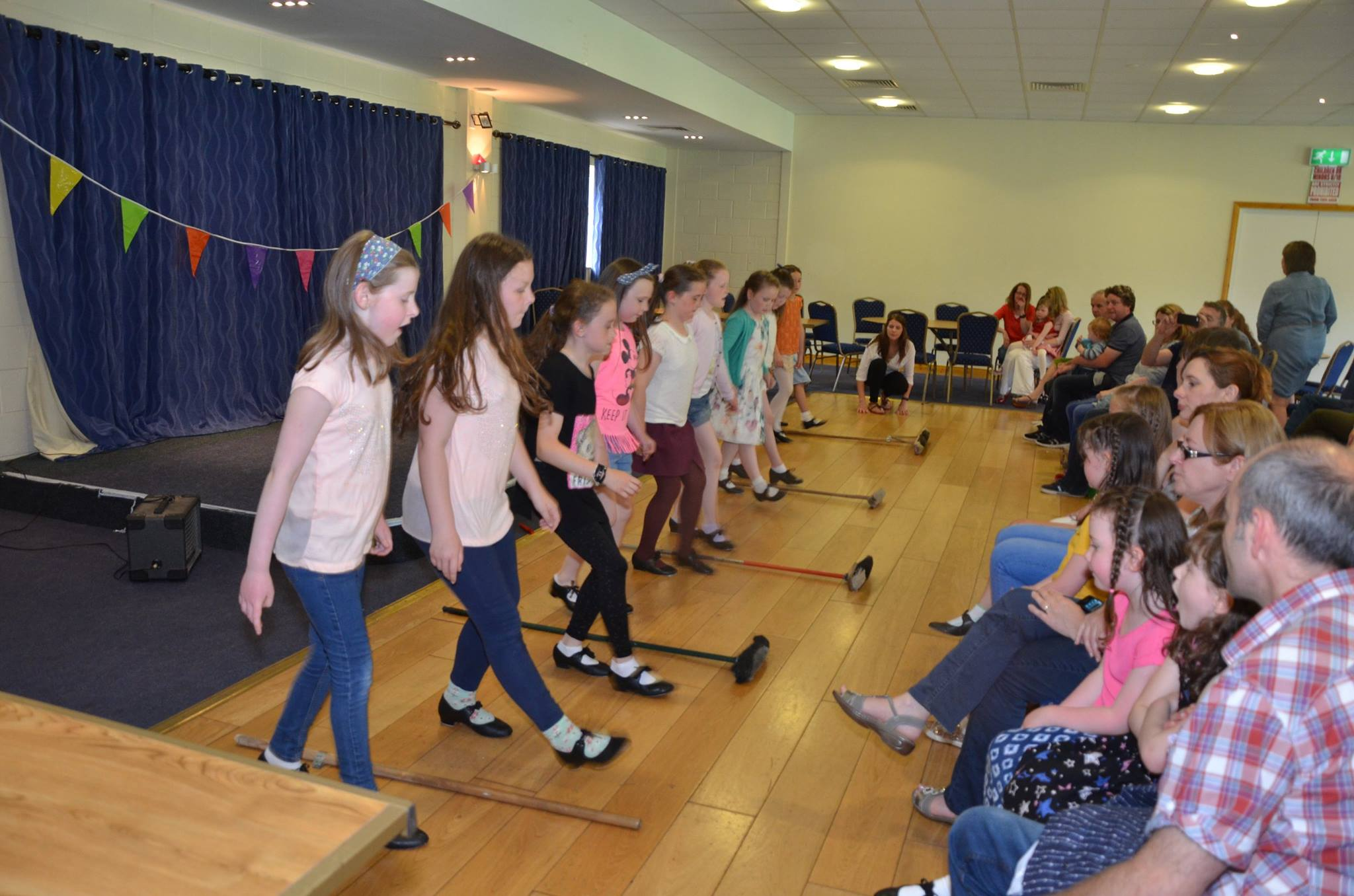 Local children Irish dancing at the pearee Brothers Centre