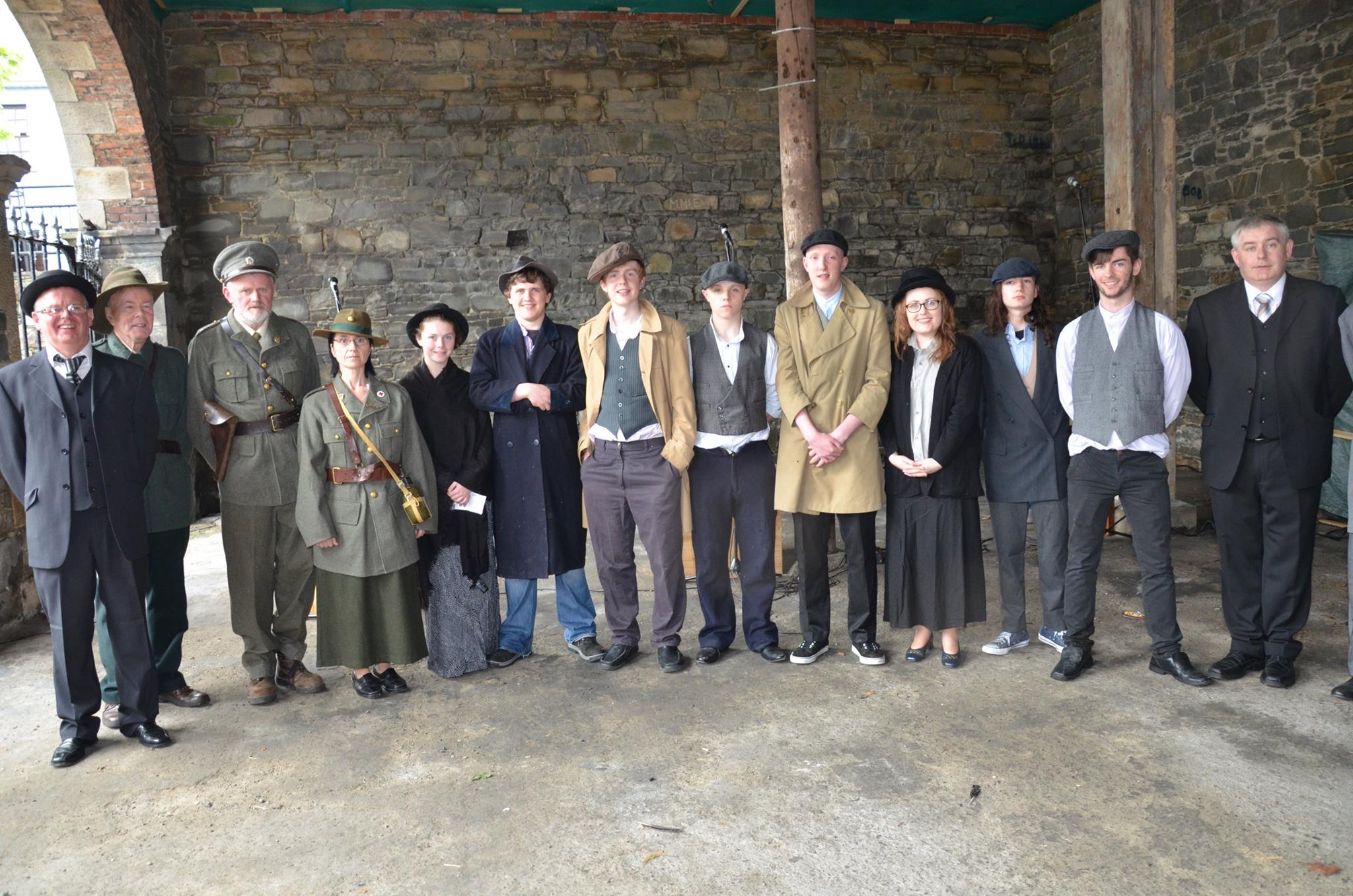 The Cast from the production of 'the Volunteer Split'.