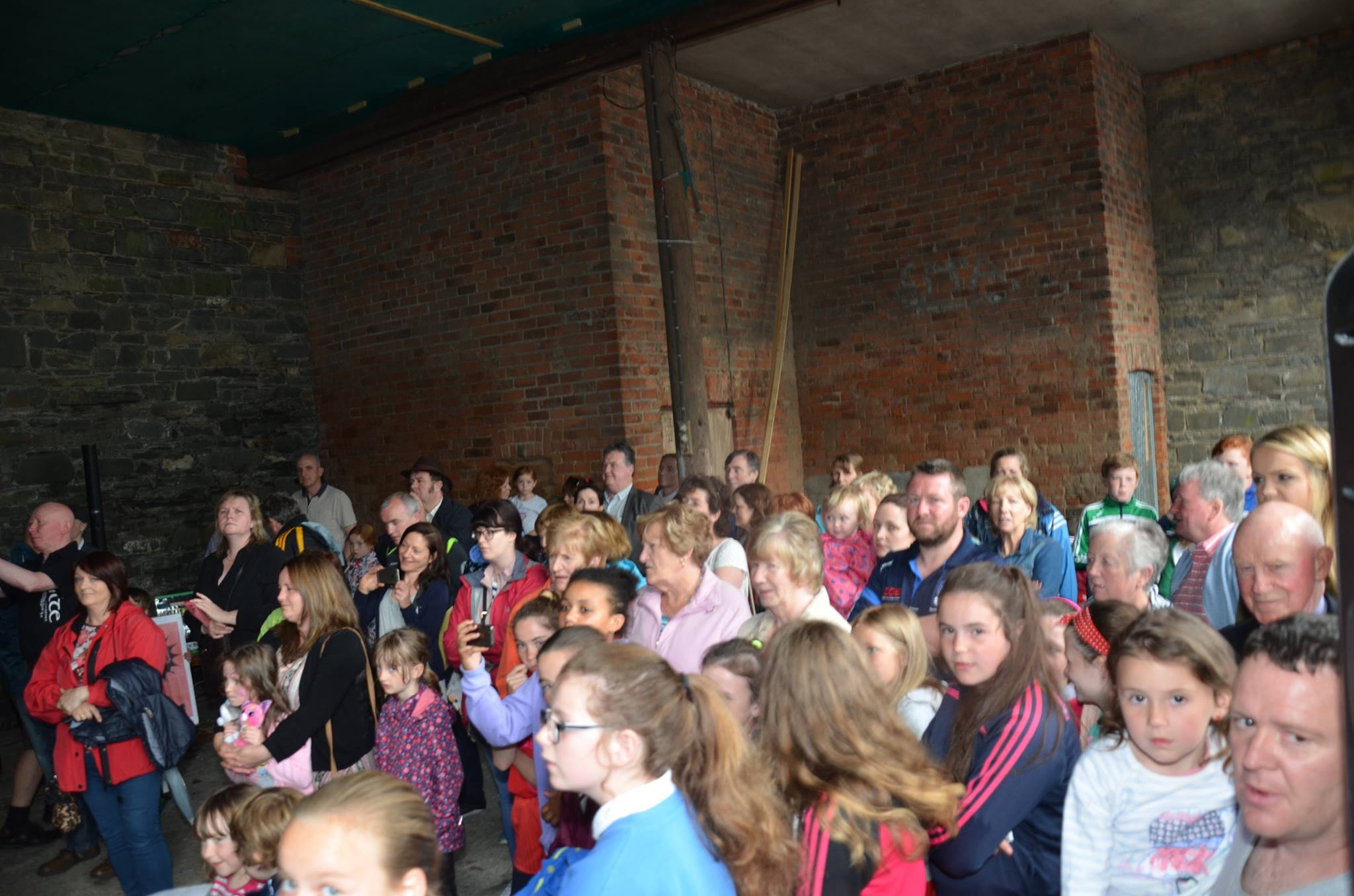 A section of the audience who attended the events in the Market House/Court House